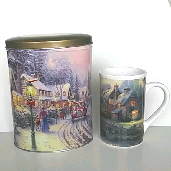 Thomas Kinkade Mug & Tin Bundle